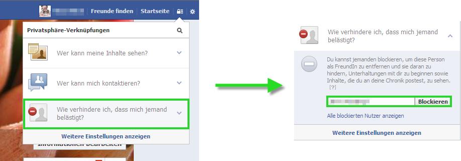 facebook blockierte personen aufheben