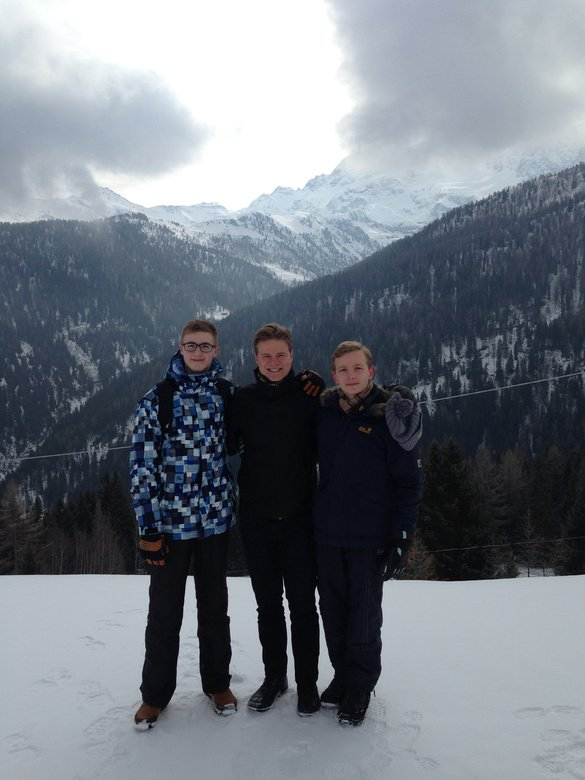 David, Lukas und Lucas in Livigno