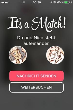Tinder match gelöscht