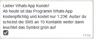 Whatsapp brief zum ausfüllen